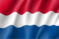 Κυματίζοντας σημαία Netherland Στοκ Εικόνα