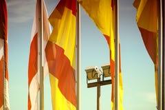 Κυματίζοντας σημαίες Στοκ φωτογραφία με δικαίωμα ελεύθερης χρήσης