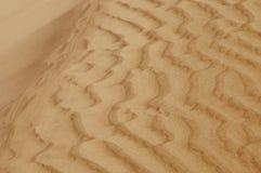 κυματισμένη αμμόλοφοι άμμ&omicro Στοκ φωτογραφία με δικαίωμα ελεύθερης χρήσης