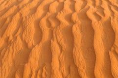 κυματισμένη αμμόλοφος άμμ&omic Στοκ εικόνα με δικαίωμα ελεύθερης χρήσης