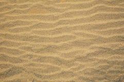 Κυματισμένη μεταδιδόμενη μέσω του ανέμου άμμος Στοκ Φωτογραφία