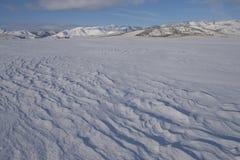 Κυματισμένο αέρας χιόνι Στοκ φωτογραφία με δικαίωμα ελεύθερης χρήσης