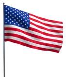 Κυματισμός ΑΜΕΡΙΚΑΝΙΚΩΝ αμερικανικών σημαιών Στοκ φωτογραφία με δικαίωμα ελεύθερης χρήσης