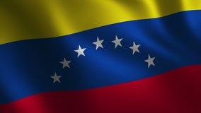 Κυματισμός σημαιών της Βενεζουέλας τρισδιάστατος αφηρημένη ανασκόπηση Ζωτικότητα βρόχων ελεύθερη απεικόνιση δικαιώματος
