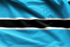 Κυματισμός σημαιών της Μποτσουάνα στοκ εικόνες