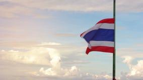 Κυματισμός σημαιών της Ταϊλάνδης απόθεμα βίντεο