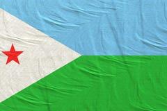 Κυματισμός σημαιών του Τζιμπουτί στοκ φωτογραφίες