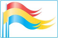 κυματισμός σημαιών Στοκ Εικόνες