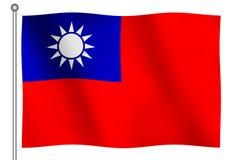 κυματισμός της Ταϊβάν σημαιών Στοκ Εικόνες