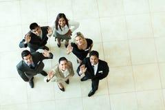 Κυματισμός Businesspeople στοκ φωτογραφία
