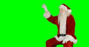 κυματισμός santa χεριών Claus απόθεμα βίντεο