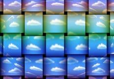 Κυματιστά σύννεφα Στοκ Φωτογραφία