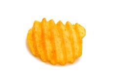Κυματιστά τσιπ πατατών Στοκ φωτογραφία με δικαίωμα ελεύθερης χρήσης