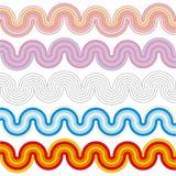 Κυματιστά λωρίδες των διαφορετικών χρωμάτων διανυσματική απεικόνιση