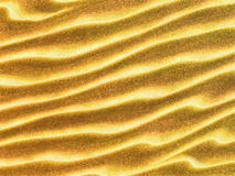 Κυματιστή επιφάνεια άμμου Στοκ εικόνα με δικαίωμα ελεύθερης χρήσης