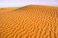 Κυματιστός αμμόλοφος άμμου στοκ εικόνες