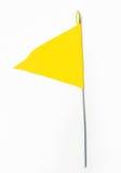 κυματιστός κίτρινος σημα& Στοκ Φωτογραφίες