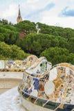 Κυματιστός πάγκος του parc guell& x27 πεζούλι του s Στοκ φωτογραφία με δικαίωμα ελεύθερης χρήσης