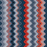 Κυματιστό άνευ ραφής σχέδιο γραμμών και σημείων, κάθετο διανυσματικό υπόβαθρο Στοκ φωτογραφία με δικαίωμα ελεύθερης χρήσης