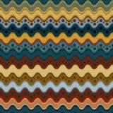 Κυματιστό άνευ ραφής σχέδιο γραμμών και σημείων Στοκ Εικόνες
