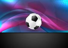 Κυματιστό αφηρημένο υπόβαθρο ποδοσφαίρου με τη σφαίρα ποδοσφαίρου απεικόνιση αποθεμάτων