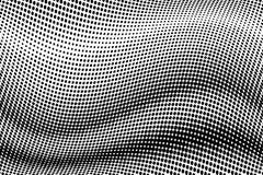 Κυματιστό ημίτονο υπόβαθρο Κωμικό διαστιγμένο σχέδιο λαϊκό ύφος τέχνης Σκηνικό με τους κύκλους, σημεία, στοιχείο σχεδίου κύκλων Στοκ Εικόνα