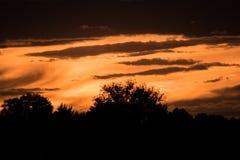 Κυματιστό ηλιοβασίλεμα Στοκ Εικόνα