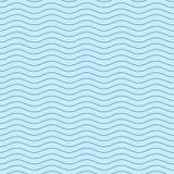 Κυματιστό μπλε άνευ ραφής σχέδιο γραμμών Στοκ Φωτογραφίες