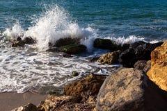 κυματωγή θάλασσας Στοκ εικόνες με δικαίωμα ελεύθερης χρήσης