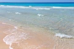 Κυματωγή θάλασσας στην παραλία Στοκ Εικόνα