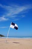 κυματωγή σημαιών παραλιών Στοκ Εικόνα