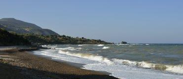 Κυματωγή στην παραλία Aphrodite Στοκ Εικόνα