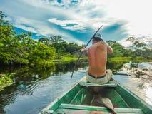 Κυνήγι τόξων της Βραζιλίας - του Αμαζονίου στοκ εικόνες με δικαίωμα ελεύθερης χρήσης