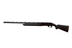 Κυνηγετικό όπλο που απομονώνεται μαύρο στοκ εικόνες με δικαίωμα ελεύθερης χρήσης