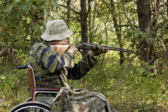 Κυνηγός αναπηρικών καρεκλών στοκ εικόνα με δικαίωμα ελεύθερης χρήσης