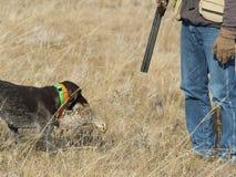 Κυνηγός και το σκυλί του στοκ φωτογραφία με δικαίωμα ελεύθερης χρήσης
