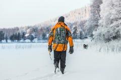 Κυνηγός και Elkhound Στοκ φωτογραφίες με δικαίωμα ελεύθερης χρήσης