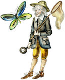 κυνηγός πεταλούδων Στοκ Φωτογραφίες