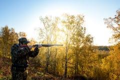 Κυνηγός στην αυγή Στοκ Εικόνα