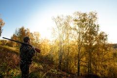 Κυνηγός στην αυγή Στοκ Φωτογραφία
