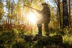 Κυνηγός στην αυγή Στοκ φωτογραφίες με δικαίωμα ελεύθερης χρήσης