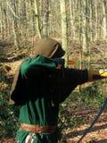 Κυνηγός στο δάσος Στοκ Εικόνα