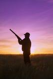 Κυνηγός στο ηλιοβασίλεμα Στοκ φωτογραφίες με δικαίωμα ελεύθερης χρήσης
