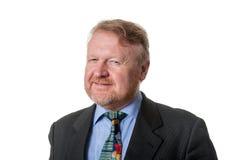 Κυνικός επιχειρηματίας - στο λευκό Στοκ φωτογραφία με δικαίωμα ελεύθερης χρήσης