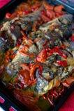 Κυπρίνος και stew λαχανικών Στοκ φωτογραφία με δικαίωμα ελεύθερης χρήσης