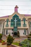 Κυρία είσοδος στο μέτωπο της νέας αίθουσας συνεδριάσεων της βαθύτερης εκκλησίας Gbagada Λάγκος Νιγηρία Βίβλων ζωής στοκ εικόνα με δικαίωμα ελεύθερης χρήσης