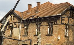 Κυρία είσοδος Auschwitz Στοκ φωτογραφία με δικαίωμα ελεύθερης χρήσης