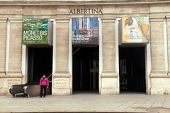Κυρία είσοδος στο μουσείο της Αλμπερτίνα, Βιέννη στοκ εικόνα
