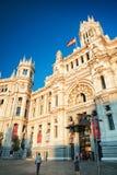 Κυρία είσοδος στο παλάτι Cybele στη Μαδρίτη, Ισπανία Στοκ Εικόνες