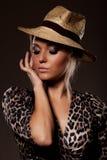 κυρία καπέλων Στοκ εικόνα με δικαίωμα ελεύθερης χρήσης